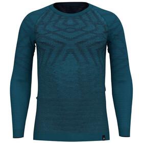 Odlo Suw Natural + Kinship Koszulka z długim rękawem Mężczyźni, blue coral melange
